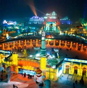 Trung Quốc : lễ hội băng đăng Harbin