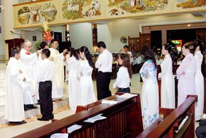 Lễ kính Đức Mẹ Truyền Tin, Nghi thức Thanh Tẩy
