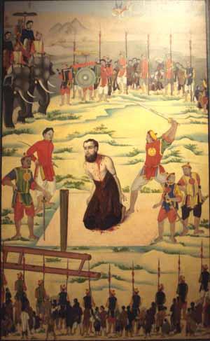 8. Bức họa tử đạo : Đc Borie Cao