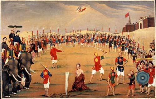 13. Bức họa tử đạo Lm Schoeffler Đông