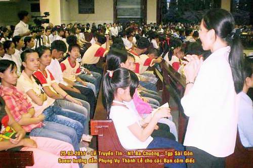 Dự lễ Truyền Tin tại giáo xứ Đaminh