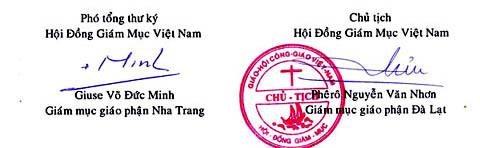 Thư Hội Đồng GMVN tháng 4-2010