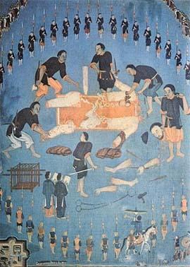 3. Bức họa cuộc tử đạo thánh Lm Cornay Tân